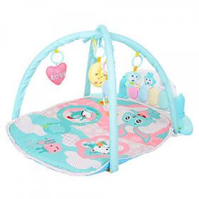Детский Музыкальный Коврик С Дугами Для Младенца Happy Baby + Пианино + Подвески (698-57)