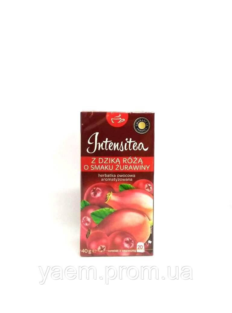 Чай фруктовый в пакетиках Intensitea 20пак. (Польша) 40, с шиповником и клюквой