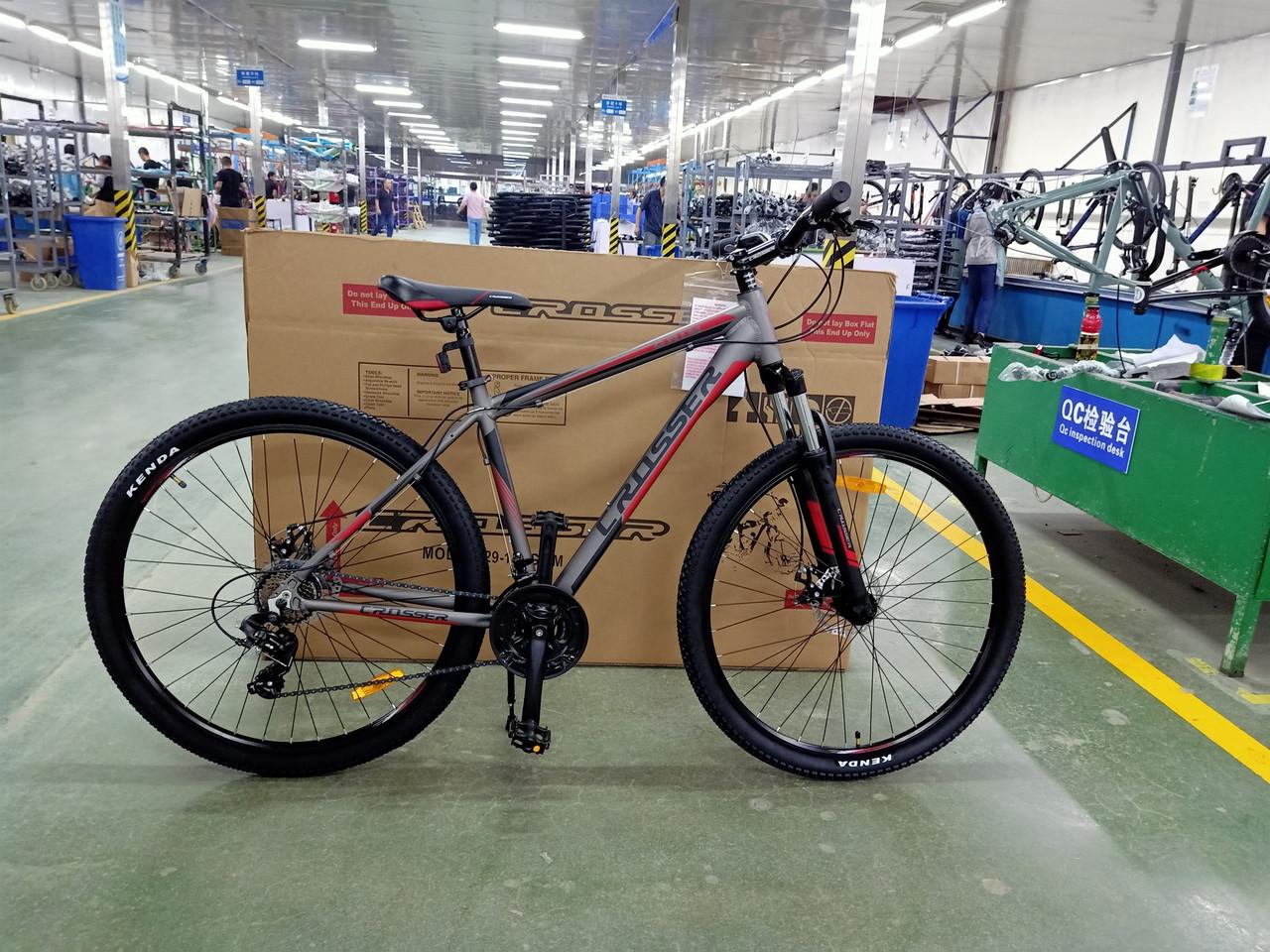 """Гірський велосипед 29 дюймів Crosser Grim рама 19"""" Алюміній BLACK"""