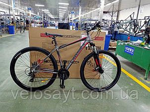 """Гірський велосипед 29 дюймів Crosser Grim рама 19"""" Алюміній BLACK, фото 2"""