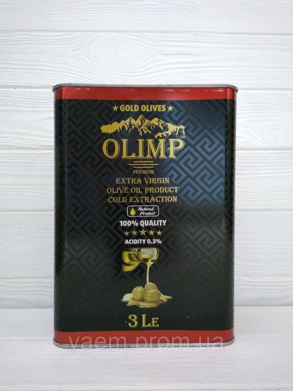 Масло оливковое OLIMP Premium Extra Virgion Cold Extraction 3л (Греция)