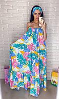 Шикарное женское круизное платье с повязкой в комплекте (три цвета)