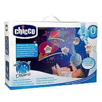 Дитяча Іграшка Підвіска-мобіль-Карусель на ліжечко Чарівні Зірочки з проектором Блакитні Сһіссо Чіко