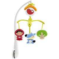 Дитяча Розвиваюча Звукова Обертається Іграшка Підвіска-мобіль-Карусель на ліжечко Червона шапочка Chicco