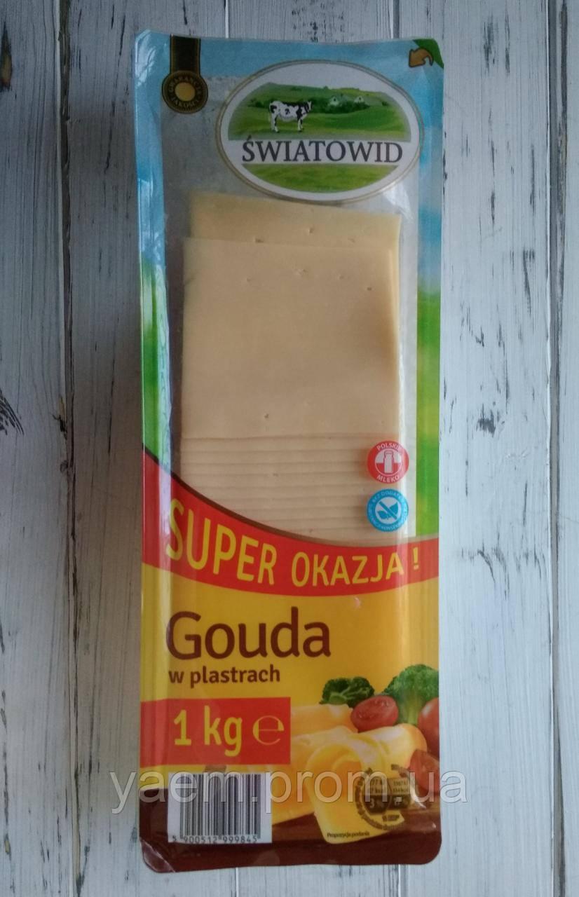 Сыр салями гауда Swiatowid Gouda 1кг (Польша)
