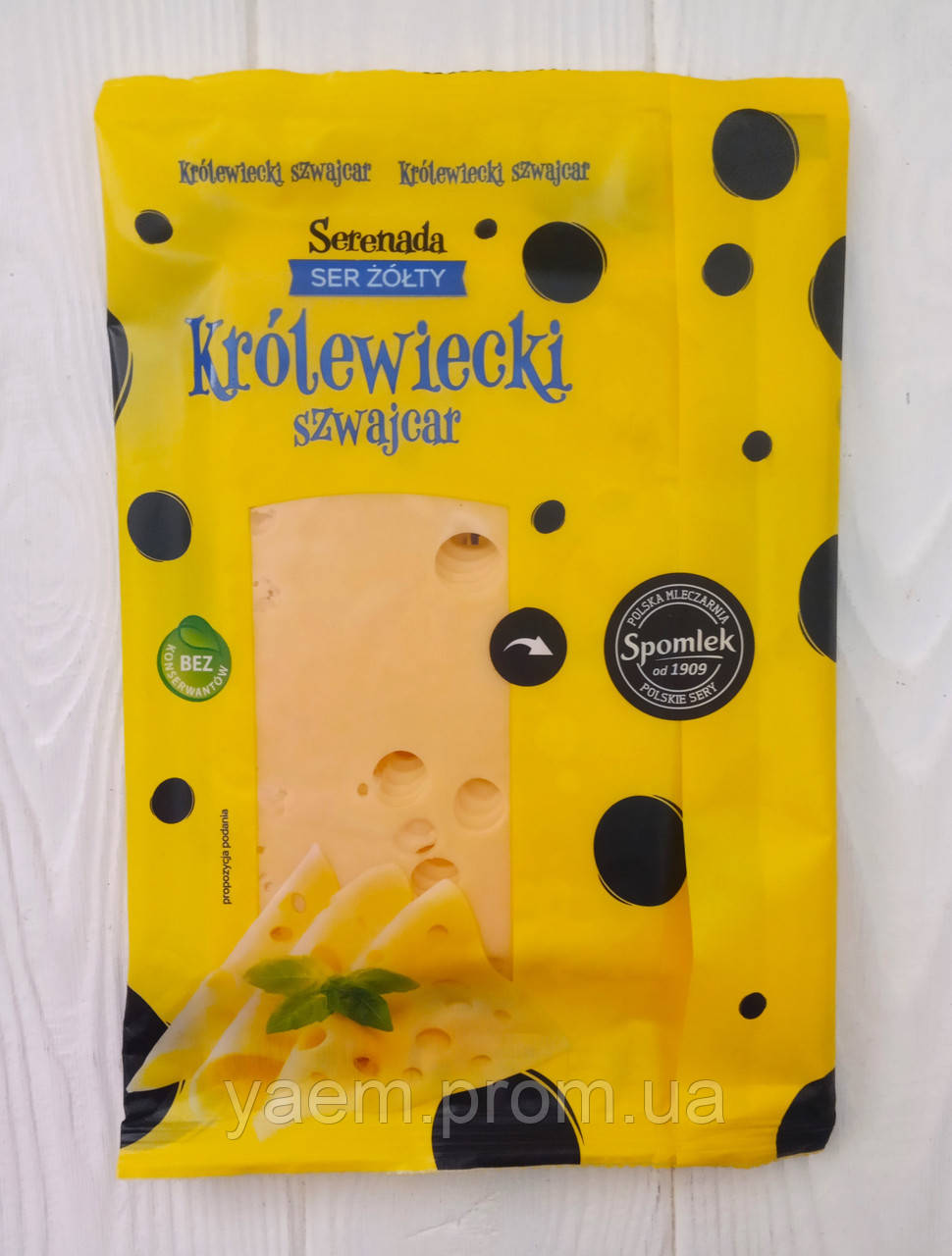 Сыр слайсами нарезка Serenada Krolewiecki szwajcar 135g (Польша)