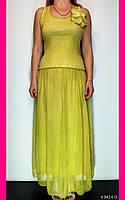 Платье повседневное. One size (46-48). Цвета: голубой и оливковый. Платье летнее. Женская одежда