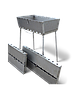 Мангал чемодан складной на 10 шампуров, толщина стали 3 мм, мангал - Фото