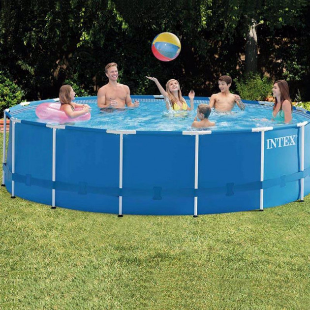 Каркасный бассейн Intex Metal Frame Pool 28242 457 см х 122 см c аксессуарами