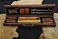 """Элитный подарок мужчине - набор для шашлыка """"Егерь люкс"""" в футляре из дерева"""