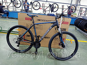 """Горный велосипед 29 дюймов Crosser Pionner рама 19"""" BLACK-BLUE, фото 2"""