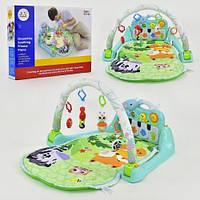 Детский музыкальный коврик, Развивающий коврик для младенца с пианино 1102 11/54.6