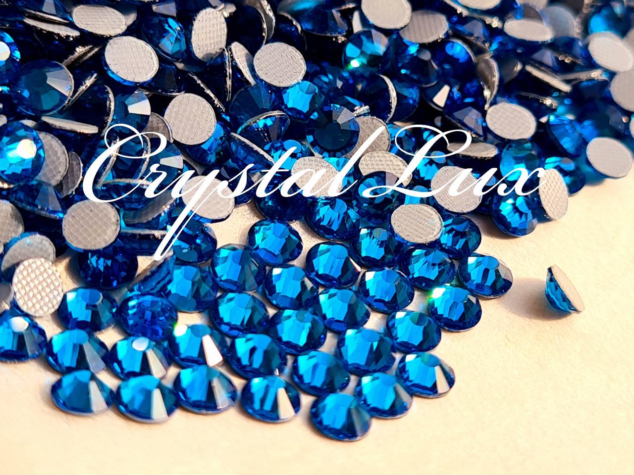 Термо стразы Lux ss16 Capri Blue (4.0mm) 100шт