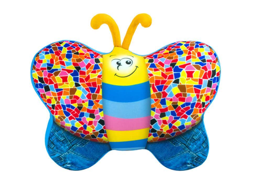 """Антистресова іграшка м`яконабивна """"SOFT TOYS 56 """"Метелик"""" джинсовий"""