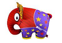 """Антистресова іграшка м`яконабивна """"SOFT TOYS 60 """"Слон"""" померанчовий"""