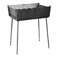 Мангал чемодан складной на 6 шампуров, толщина стали 3 мм, дачный мангал