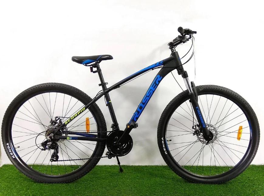 """Горный велосипед 29 дюймов Crosser Scorpio рама 17"""" BLACK-BLUE"""
