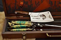 """Подарочный набор для рыбака: авторские шампура, рыбацкий нож, вилка, топорик """"Рыбак люкс"""", фото 2"""