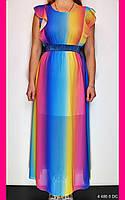 Платье повседневное. One size (44-46). Платье цветное. Платье летнее.Женская одежда