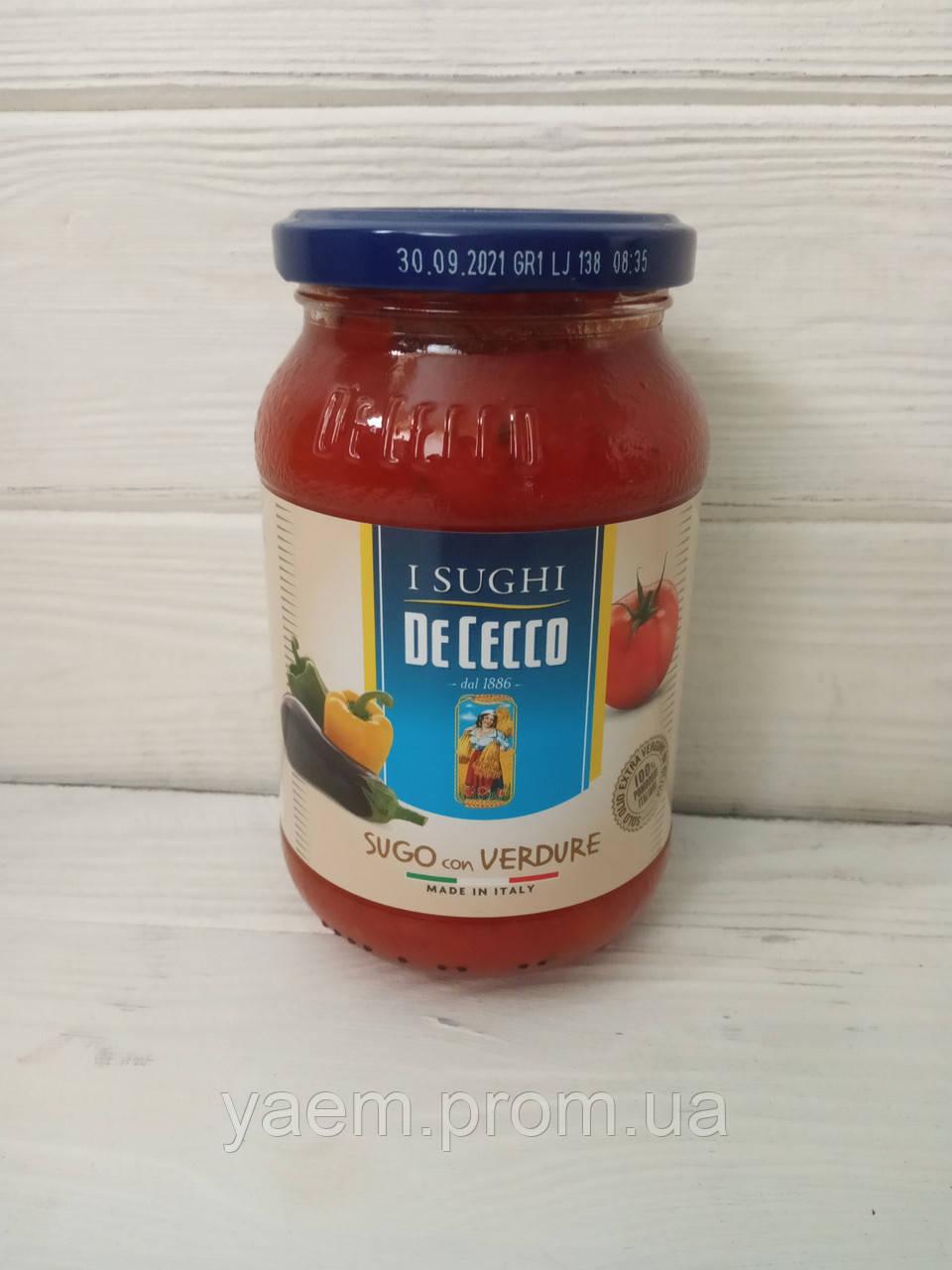 Соус томатный De Cecco 400гр (Италия) с овощами (sugo con verdure)
