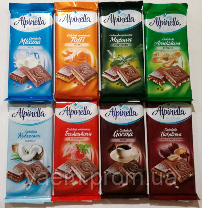 Шоколад Alpinella 90гр. (Польша)