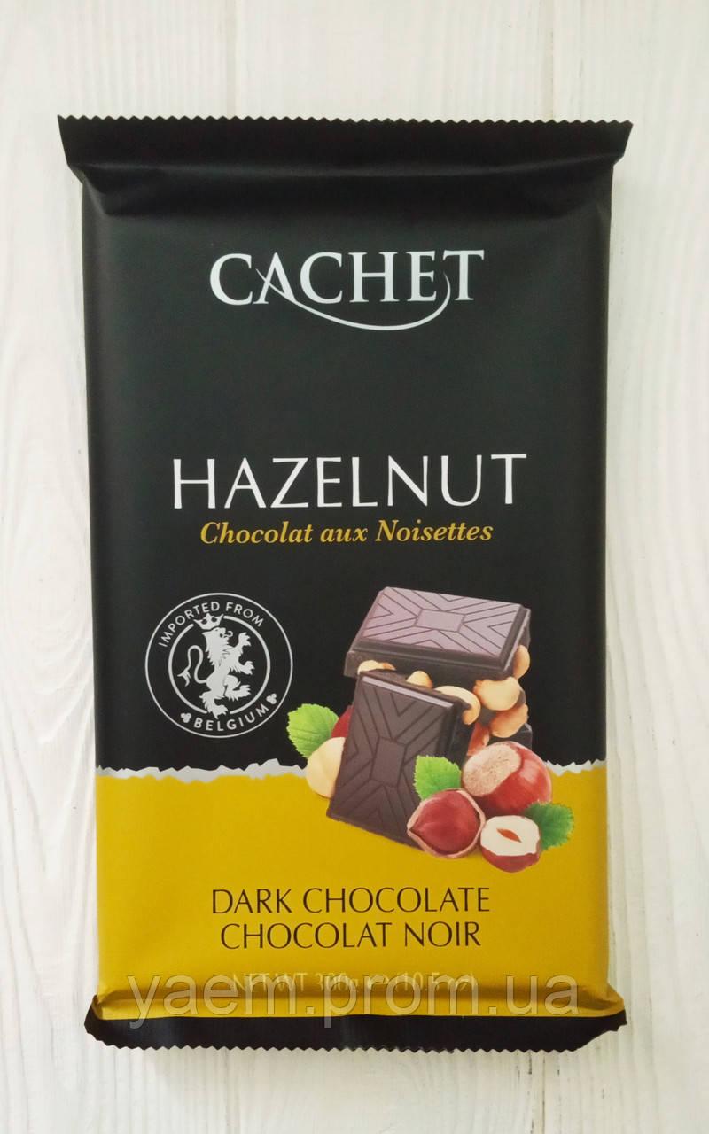 Шоколад Cachet Dark Chocolate Hazelnut 300гр. (Бельгия)