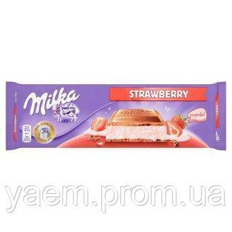 Молочный шоколад Milka Strawberry 300g (Швейцария)