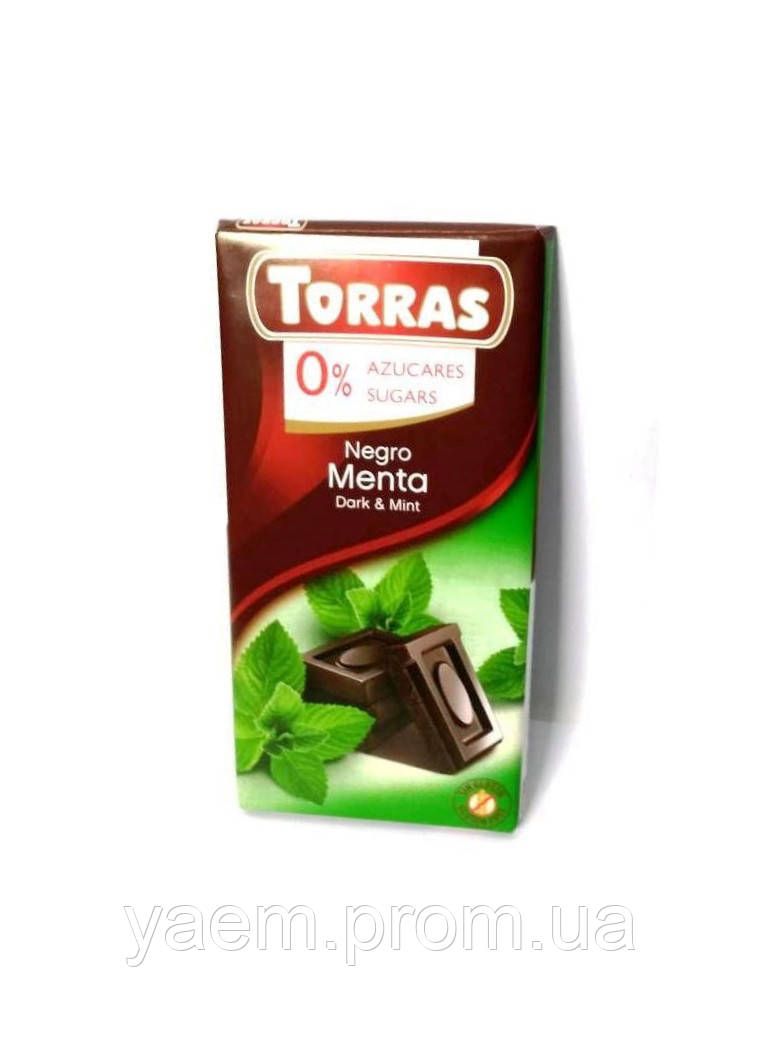 Шоколад без сахара Torras 75гр (Испания) Dark&Mint