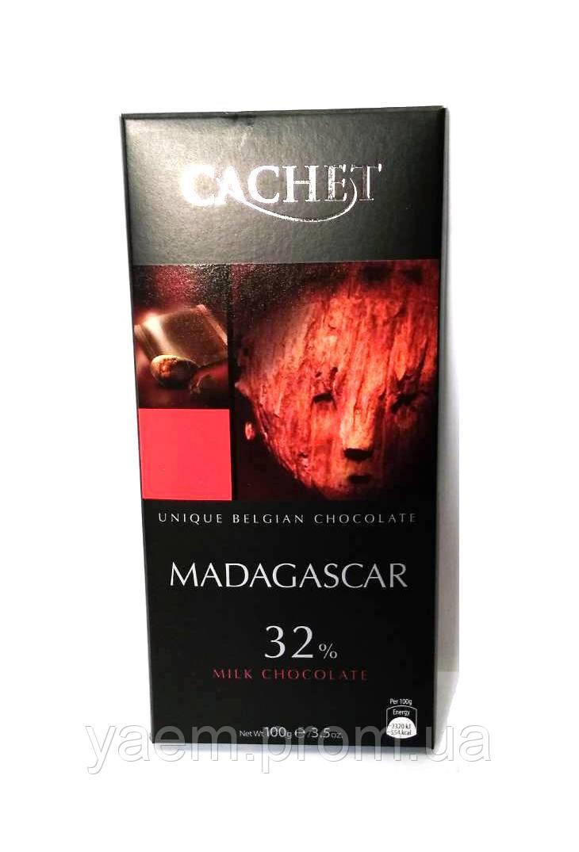 Бельгийский шоколад Cachet 100гр (Бельгия) Madagascar (молочный шоколад 32% какао)