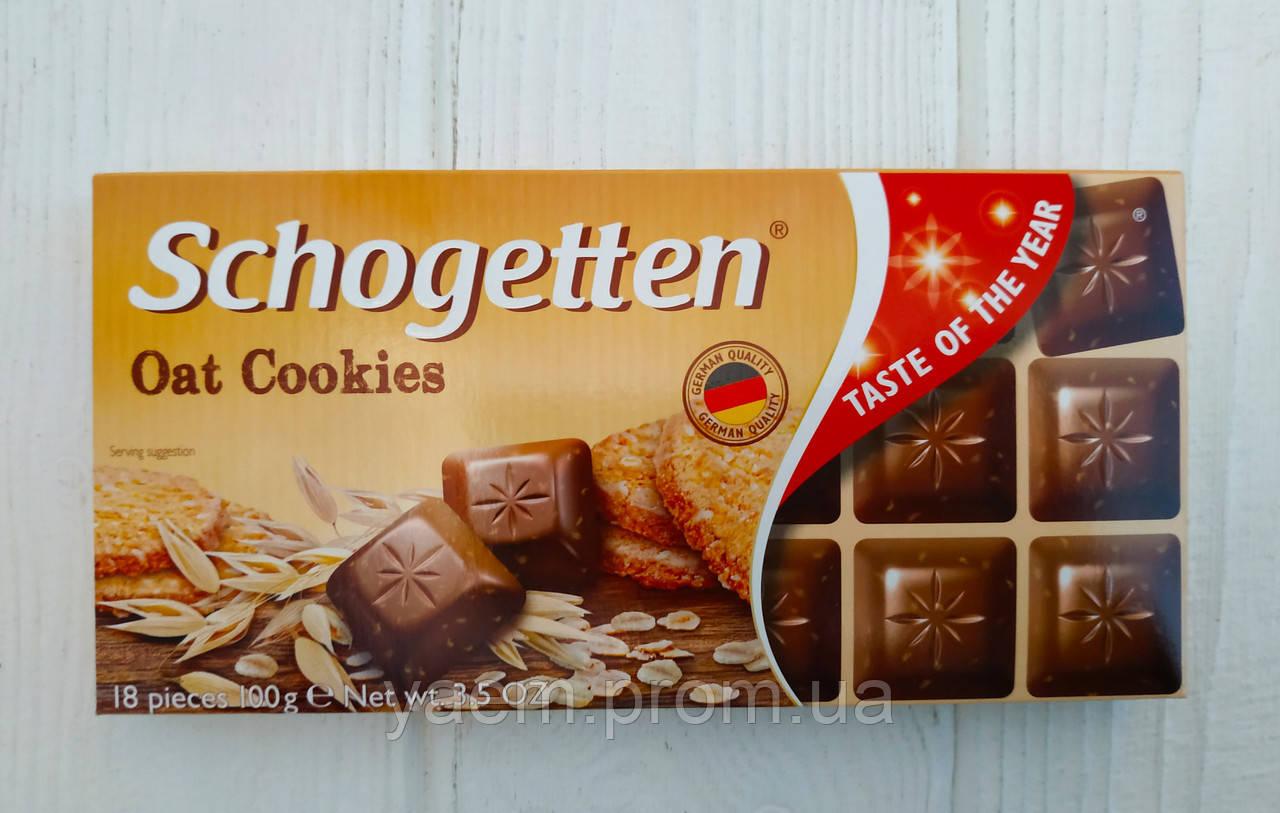 Шоколад Schogetten (Германия) Молочный, 100, Oat Cookies