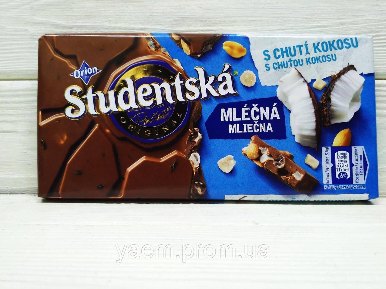 Шоколад Studentska 180гр. 180, кокос