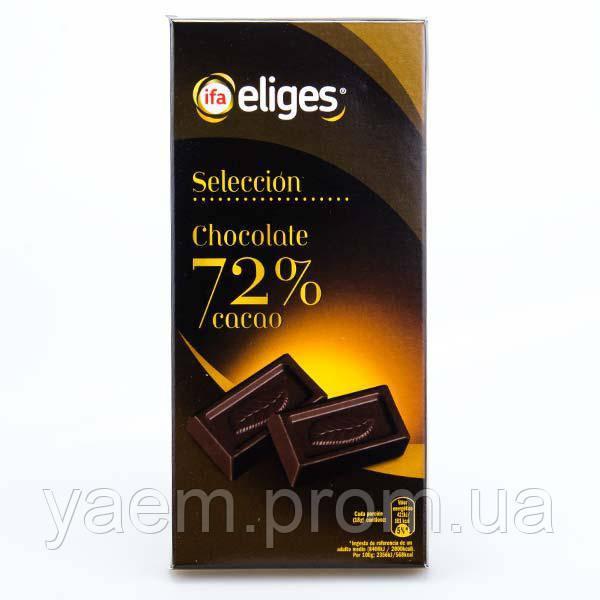 Черный шоколад ifa Eliges Seleccion 72% 125g (Испания)