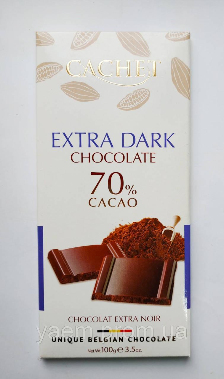 Бельгийский шоколад Cachet 100гр (Бельгия) экстрачерный шоколад 70% какао