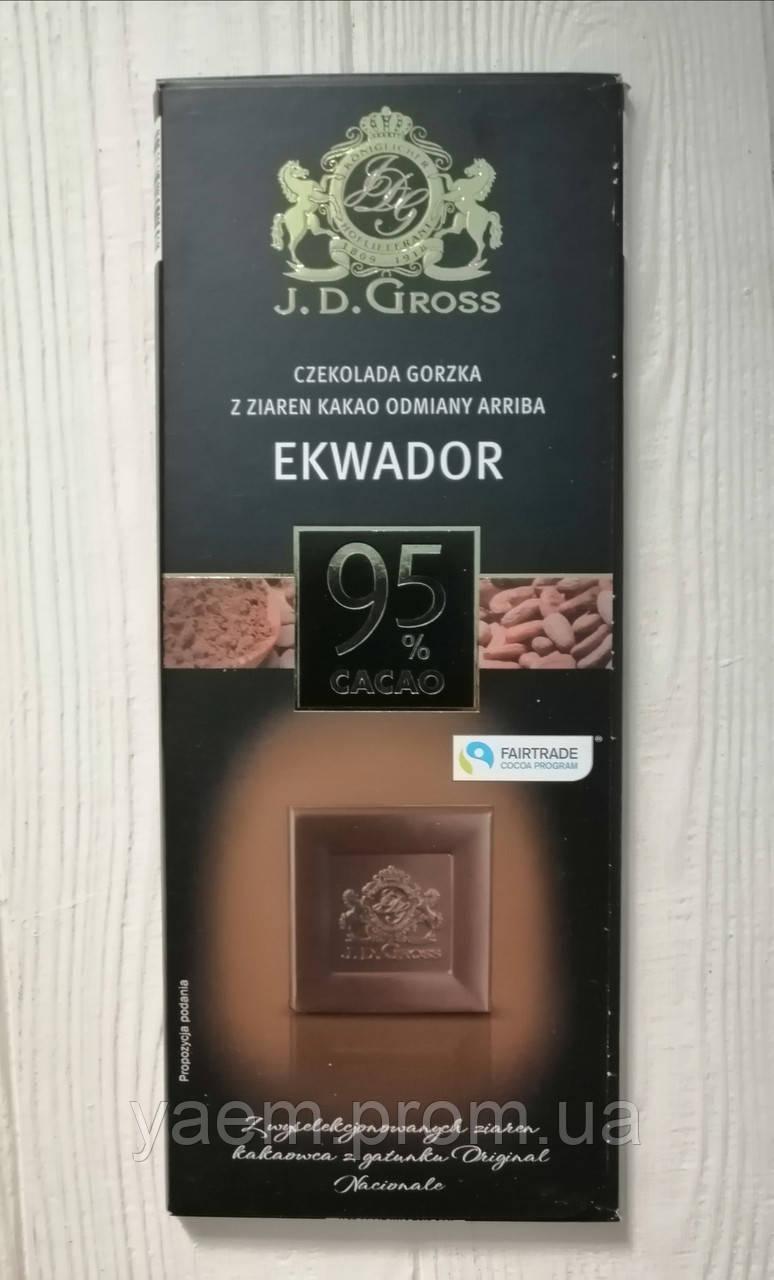 Черный шоколад J.D. Gross 125 гр 125, Ekwador 95%