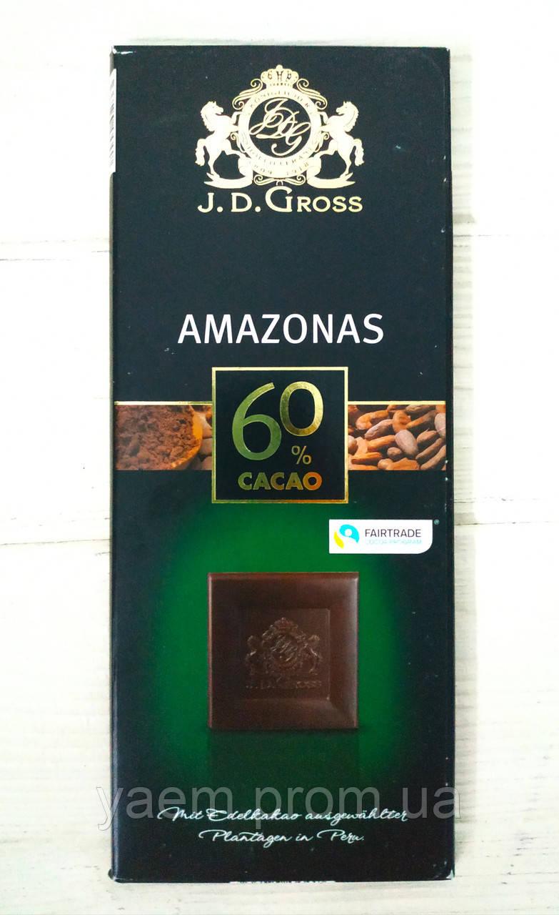 Черный шоколад J.D. Gross 125 гр Amazonas 60% cacao
