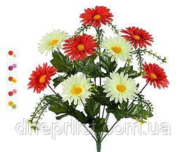 """Букет искусственный """"Хризантемы 2 цвета"""" 12 цветков, 6 см, 45 см (5 видов)"""