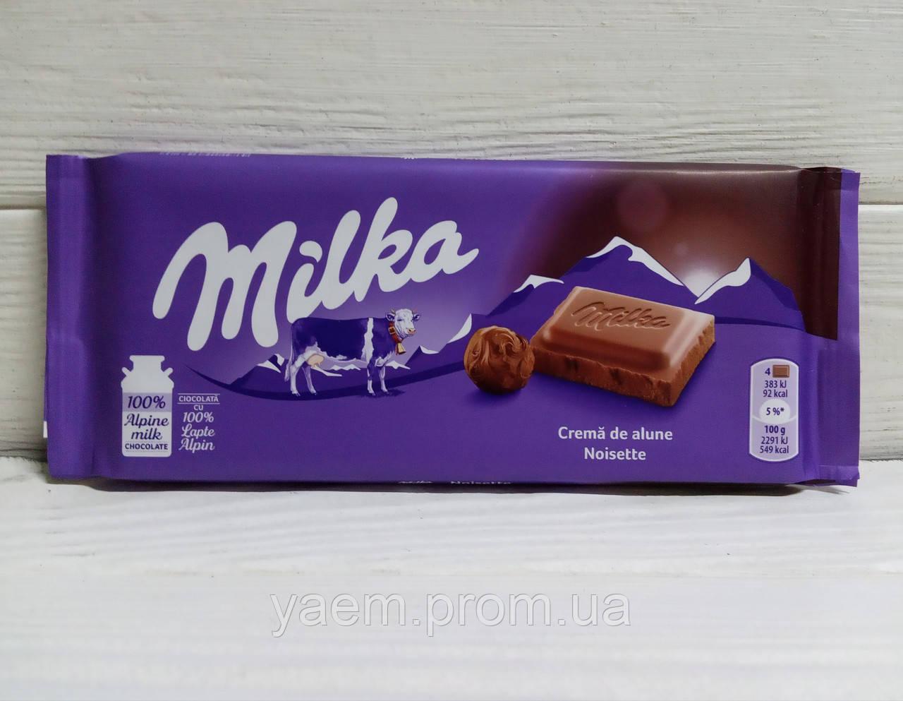 Шоколад Milka (Швейцария) Noisette