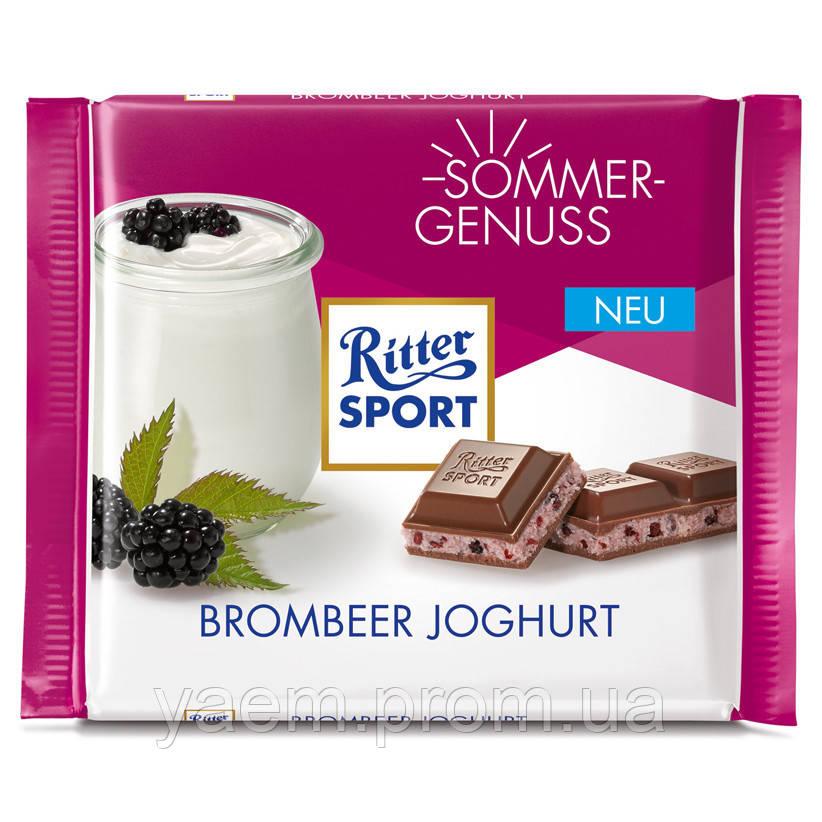 Шоколад Ritter Sport 100гр. (Германия) 100, Brombeer Joghurt (молочный с ежевичным йогуртом)
