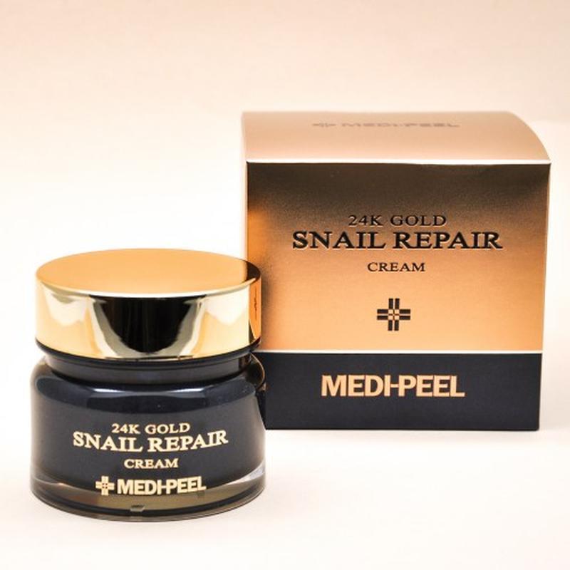 Премиум крем С Улиткой и 24К золотом Medi-Peel 24k Gold Snail Repair Cream 50g