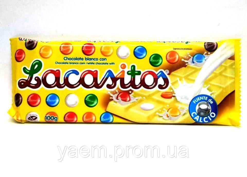 Белый шоколад с глазурованным драже Lacasitos 100гр (Испания)