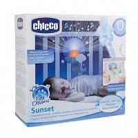 Детский Ночник Светильник-проектор Закат со световыми и звуковыми эффектами с датчиком пробуждения Chicco Чико