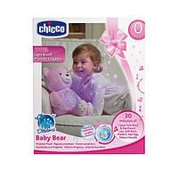 Детская Мягкая Игрушка-Ночник Мишка со световыми эффектами и музыкой разных жанров розовый Chicco Чико