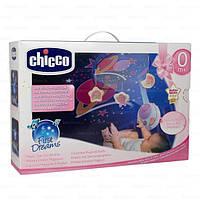 Детская Игрушка Подвеска Мобиль Карусель на кроватку Волшебные Звезды со съемным проектором Сhicco, Розовый