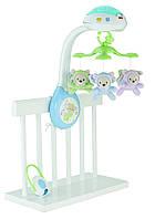 Детская Развивающая Музыкальная Игрушка Подвеска-Мобиль Карусель на кроватку с проектором Fisher Price