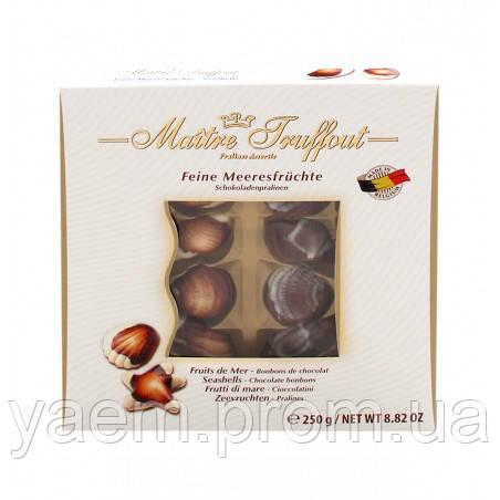 Шоколадные конфеты Maitre Truffout Feine Meeresfrüchte в белой коробке 250g (Австрия)
