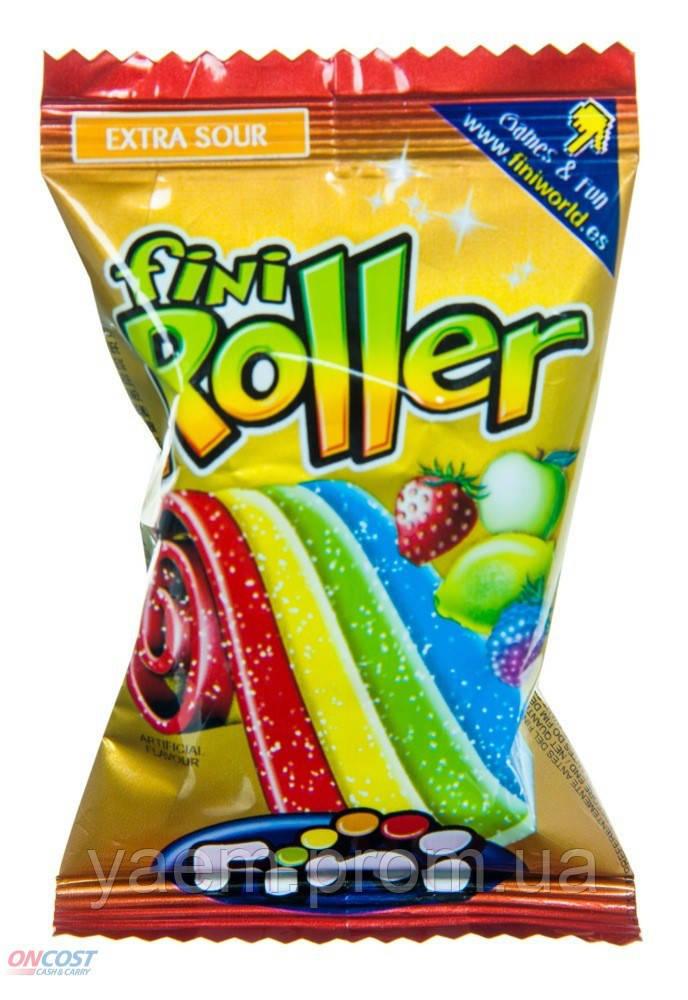 Желейные конфеты с кислинкой Fini Roller extra sour, 20гр (Испания)