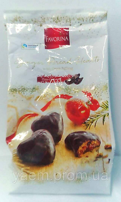 Пряники в шоколаде с фруктовой начинкой Favorina 300g (Германия)