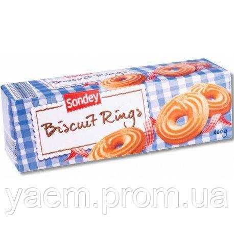 Бисквитное печенье Sondey Biscuit Rings, 400гр (Польша)