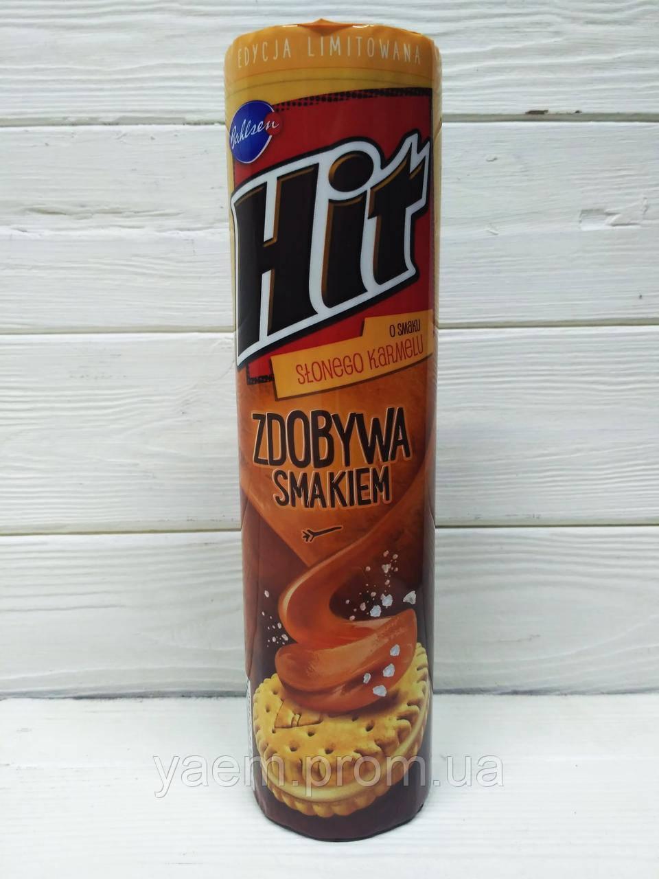 Печенье HIT 220гр. (Польша) 220, карамель с солью