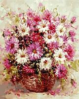 Картина по номерам Астры в корзине , 40х50 см., Babylon VP583 Цветы, фрукты, натюрморты, еда